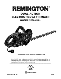 To view the document Remington RM4522TH Owner's Manual